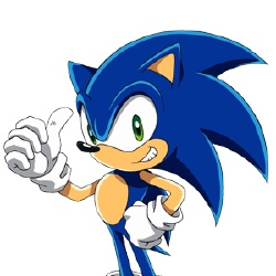 Sonic - Personnage d'animation