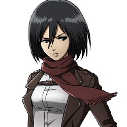 Mikasa Ackerman - Personnage d'animation