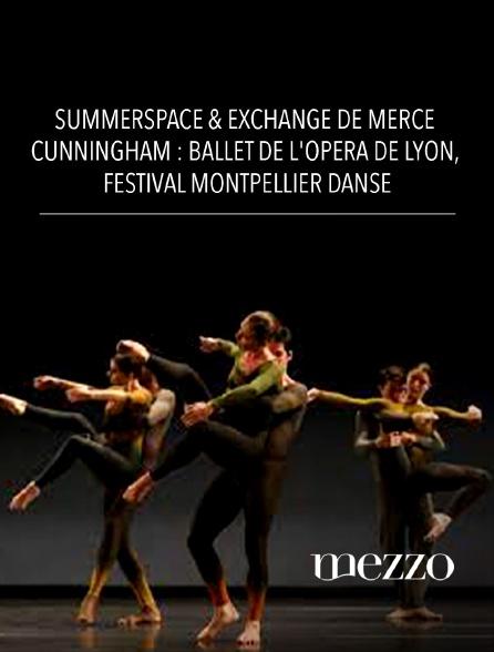 Mezzo - Summerspace & Exchange de Merce Cunningham : Ballet de l'Opéra de Lyon, Festival Montpellier Danse