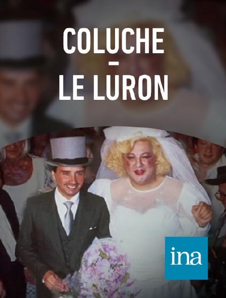 INA - Mariage Coluche - Le Luron