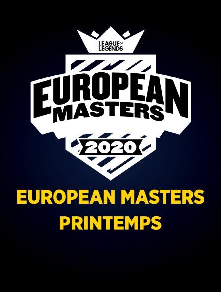 EUROPEAN MASTERS: Printemps 2020