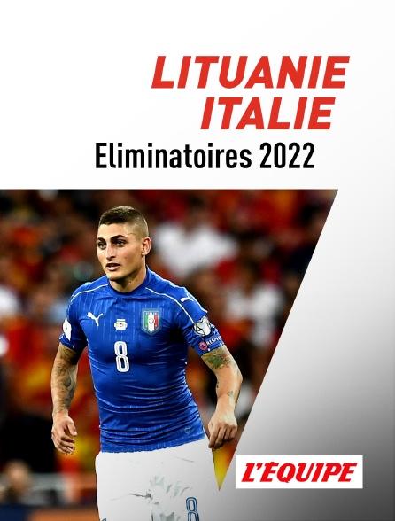 L'Equipe - Football : Eliminatoires de la Coupe du monde 2022 - Lituanie / Italie