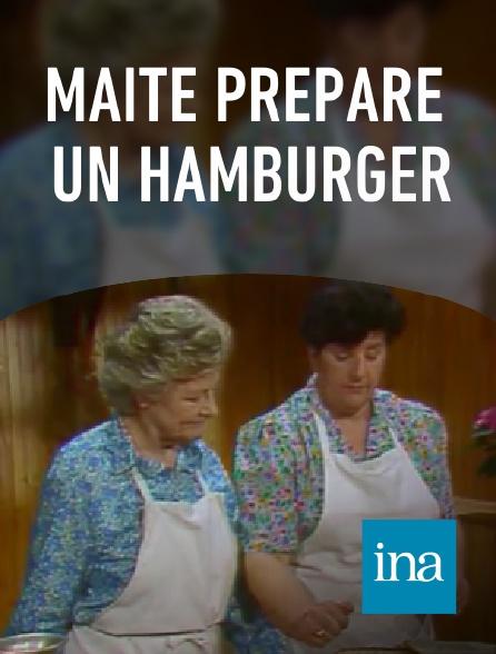 INA - Maïté prépare un hamburger
