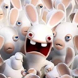 Les lapins crétins - Personnage d'animation