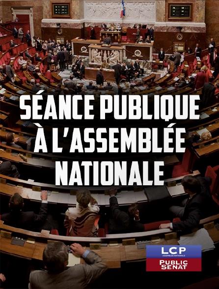 LCP Public Sénat - Séance publique à l'Assemblée nationale