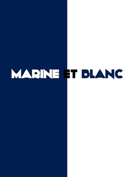 Marine et blanc